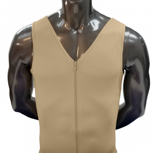 High Compression Men's Suit. Mid Thigh with Frontal Zipper